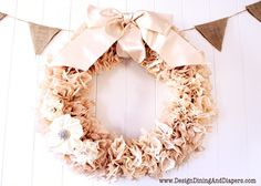 Beautiful coffee filter wreath