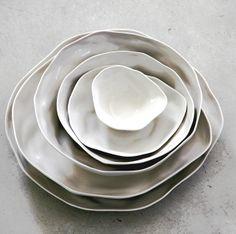 Offwhite plates by Amai saigon