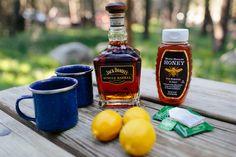 Tuolumne Toddy  Ingredients one bag black tea – I prefer Irish Breakfast lemon honey 1 oz(ish) whiskey per serving  Equipment Coleman Classic Propane Stove with an enamelware pot, or a JetBoil Sharp knife Cutting board Wooden spoon Enamelware mugs