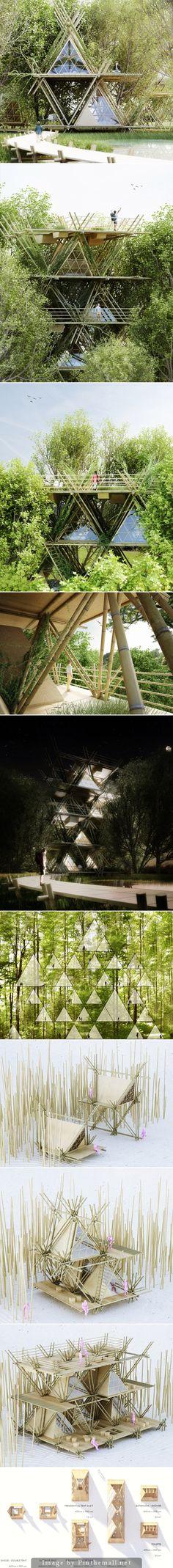 Penda Modular Bamboo Hotel