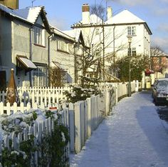 Ham Street Richmond Snowy Winter Photo by Anita Russell Richmond Surrey, Richmond Upon Thames, Beautiful Streets, Beautiful Places, Winter Photos, Old Photos, The Hamptons, United Kingdom, Photo Art