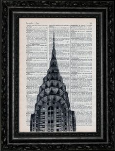 Building Ch Dictionary Art Vintage Book Art Print Recycled Vintage Dictionary Page