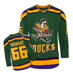 507d71f78 Gordon Bombay mighty ducks movie jersey season Throwback hockey jerseys  cheap Custom Any Name NO.