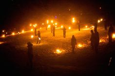 Celebrating the Pagan Imbolc Sabbat: The Marsden Fire Festival is still held each year at Imbolc in Huddersfield, England.