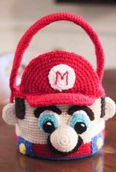 Personlized Mario Easter Basket/ by TripleCrochetDesigns on Etsy
