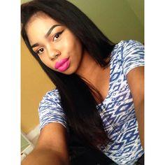 beautiful hair and Natural makeup . Love this NYC lipstick!