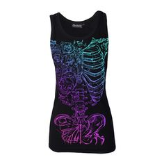 Butterfly Skeleton Ribs Beater Vest (€22) ❤ liked on Polyvore featuring outerwear, vests, rib vest, vest waistcoat, blue waistcoat, blue vest and skeleton vest