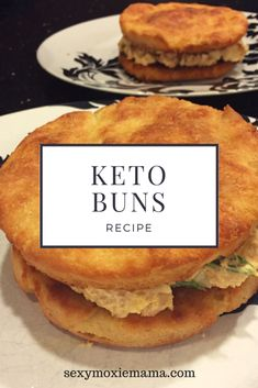 Here is a quick and easy keto bread/buns recipe. These keto buns can be used in place of bread. These buns are grain-free and low carb. Get the recipe NOW! #recipe #keto #lowcarb