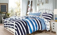 https://flic.kr/p/Q4CAtR | Aquila Quilt Cover Set by Waverly | The flamboyant Aquila Quilt Cover Set, with its print of dynamic blue stripes & delightful marine life is sure to get noticed & appreciated for its neoteric look. The fabric is woven with the best quality 100% cotton long staple fibres. www.beddingsquare.com.au/aquila-quilt-cover-set-waverly-p...