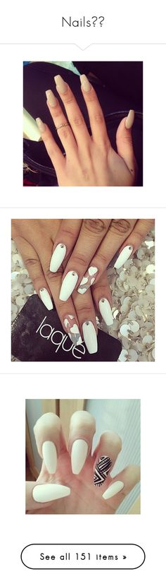"""""""Nails💅🏾"""" by trap-u-n-z-e-l ❤ liked on Polyvore featuring beauty products, nail care, nails, detalhes, nail treatments, manicure tools, makeup, nail polish, beauty and home"""