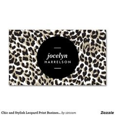 Black and white stripes salon iii coupon card chic and stylish leopard print business cards colourmoves Images