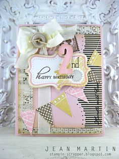 Shabby birthday card