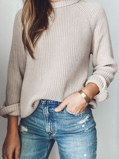 Summer Fashion Tips .Summer Fashion Tips Fall Winter Outfits, Autumn Winter Fashion, Teen Fall Outfits, Winter Sweater Outfits, Spring Fashion, Cotton Sweater, Striped Sweaters, Oversized Sweaters, Comfy Sweater