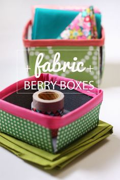 Noodlehead: fabric berry basket: DIY tutorial
