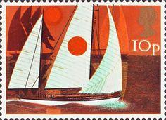 Sailing 10p Stamp (1975) Cruising Yachts