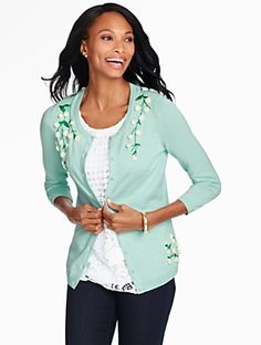Talbots - Charming Cardigan-Pom-Pom | | Misses Discover your new look at Talbots. Shop our Charming Cardigan-Pom-Pom for stylish clothing and accessories with a modern twist at Talbots