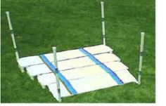 Though most dogs are natural jumpers the Broad Jump as agility equipment goes to some dogs doesn't look like a jump at all. Upon a green first introduction they may want to step across or climb over this piece of agility equipment to get to the other side. Our goal as our dogs' best teacher is to