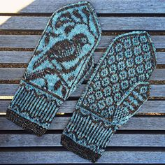"""Knit - """"Songbird Mittens"""" (paid pattern, $5) (1 of 2)"""