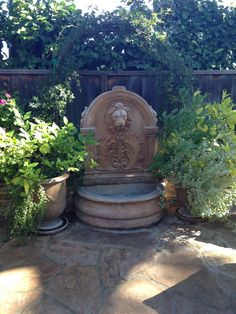 Lion's head fountain.