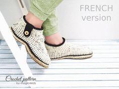 TUTORIEL CROCHETAGE  chaussons-botines pour femmes avec