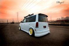 for Scion xB Wagon 2x Custom YOUR TEXT car sticker 2004-2007 Bb