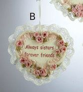 Country Marketplace - Sister Heart Ornament, $8.99 (http://www.countrymarketplaces.com/sister-heart-ornament/)