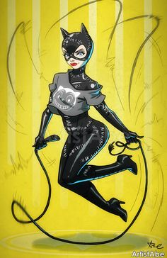 There's a surprisingly large amount of different versions and costumes of Catwoman out there. For me my top favorites are Julie Newmar from the Batman show in the and Michelle Pfeiffer f. Dc Comics, Comics Anime, Comics Girls, Batgirl, Batman And Catwoman, Catwoman Comic, Batman Universe, Comics Universe, Gotham City