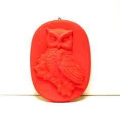 owl wall plaque neon pink home decor  //  bright by nashpop, $22.00