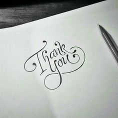 Amazing typography and lettering Calligraphy Letters, Typography Letters, Modern Calligraphy, Thank You Caligraphy, Thank You Font, Thank You Typography, Hand Lettering Alphabet, Thank You Letter, Thank You Cards