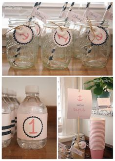 Girls pink and blue nautical baby shower! #babyshower