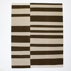 Master bedroom Offset Stripe Wool Dhurrie - Sable #westelm