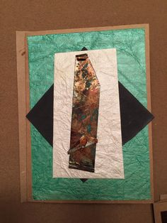 Abstract Note card made with foil tape. Distressed with alcohol inks and acrylic paint