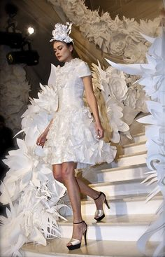Chanel Couture S/S 2009 The paper flowers are wonderful!
