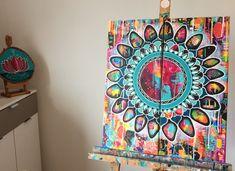 Mandala Painting, Flower Mandala, Art Blog, Mixed Media, Collage, Tapestry, Unique Jewelry, Handmade Gifts, Flowers