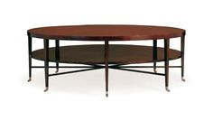 Rosenau Round Cocktail Table Collection: Rosenau With true swirl mahogany Product Code: 53015 & 53020 Multiple finishes available, please consult information files and refer to the finishes required in a q.