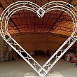 Hearted truss Special hearted shaped truss system for wedding events Material: aluminum Parts: 200x200mm trusses, 2conjuctions Connection: bolt  www.itsctruss.com ;itsctruss@gmail.com