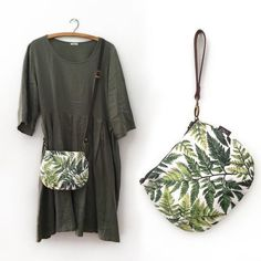 2-in-1 Crossbody / Clutch - Ferns Crossbody Clutch, Clutch Bags, Ferns, 2 In, Kimono Top, Fabric, Shopping, Collection, Tops