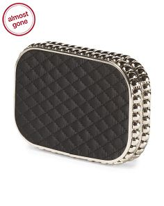 Magid Satin Quilted Clutch