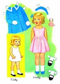 Marilyn * 1500 free paper dolls at Arielle Gabriel's The International Paper Doll Society free paper dolls for Pinterest pals #