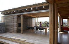 Timm's bach by Herbst Architects, Waikuku Beach, NZ.