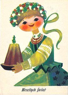Danuta Imielska-Gebethner (b.1931) — Wesołych Swiąt, 1962 (568x800)