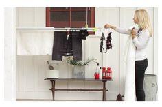 Hanging Laundry on LOFTi rack! www.thenewclotheslinecompany.com