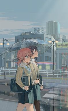 Sharing an umbrella [Bloom Into You] : wholesomeyuri Manga Yuri, Yuri Anime, Loli Kawaii, Kawaii Anime, Anime Girlxgirl, Anime Art, Arte Punk, Anime Best Friends, Girls Anime