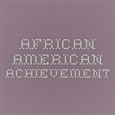 African American achievement