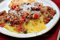 bolognese spaghetti squash - make with ground chicken