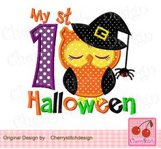 My 1st Halloween HL0024, First Halloween,Halloween Digital Embroidery Applique -4x4 5x7 6x10-Machine Embroidery Applique Design by CherryStitchDesign on Etsy