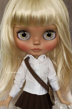 Vyprodáno Kaia vlastní Blythe tan pleťová umění panenka