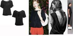 Black shirt sleeve t-shirt with cut on the back Robe di Kappa for summer 2014 ----- t-shirt manica corta con taglio a goccia sulla schiena per estate 2014