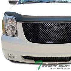 BLK 3D SPORT MESH FRONT HOOD BUMPER GRILL GRILLE COVER ABS 07-12 YUKON DENALI XL