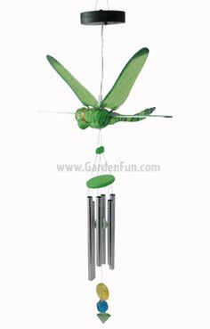 Solar Powered Dragonfly Wind Chime - i have 2 of these hanging from porch..I LOVE them...